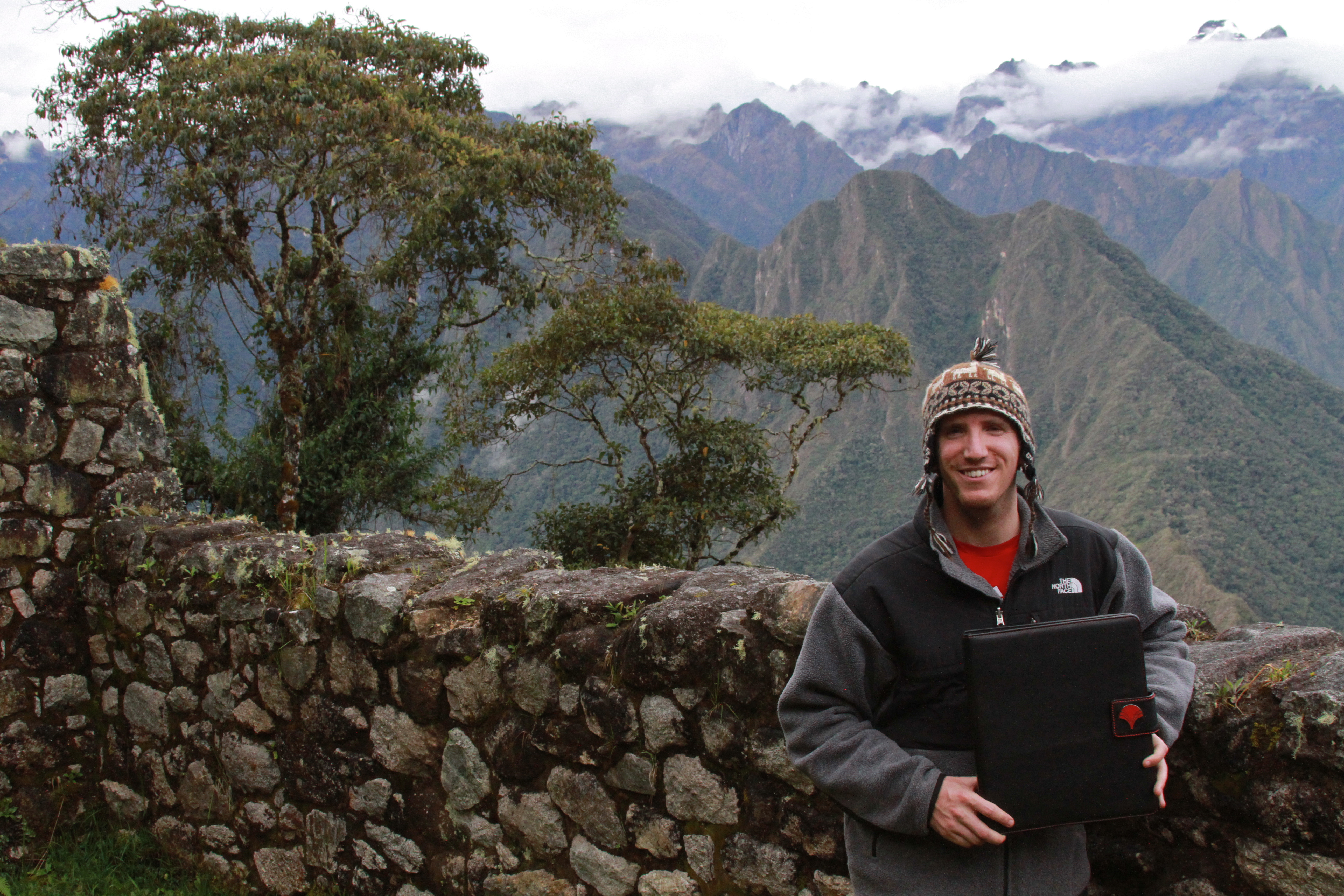 My Lifebook in the Andes.