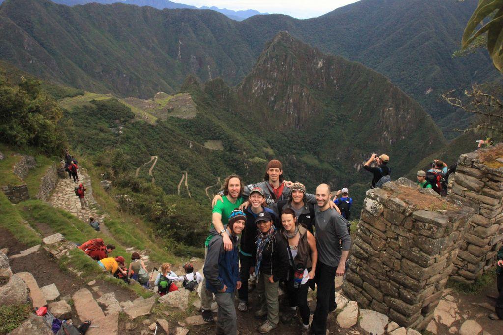 Machu Picchu from the Sun Gate.