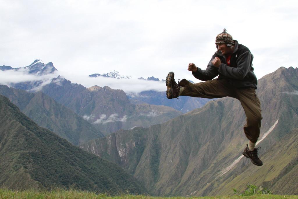Having fun on the Inca Trail