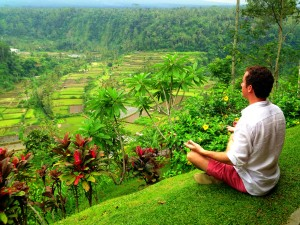 Meditating in Bali, Indonesia
