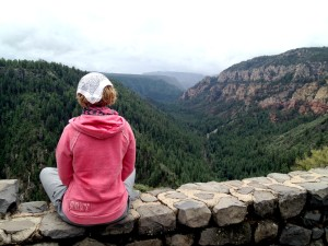 Overlooking Oak Creek Canyon