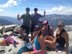 Breathtaking view from top of Half Dome